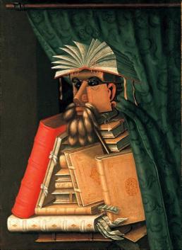 Wikimedia: Giuseppe Arcimboldo, 'The Librarian'