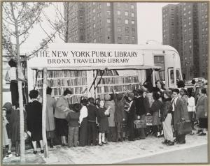 Bookmobile, Bronx, 1950s